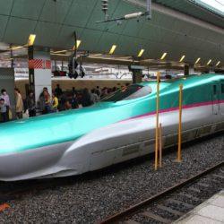 Shinkansen train in Japan
