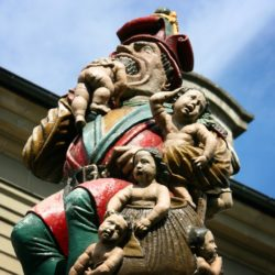 Ogre eating children in Switzerland