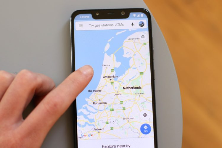 Google Maps mobile phone