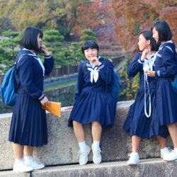 School girls in Japan