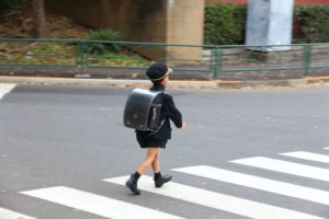 Schoolboy in Japan