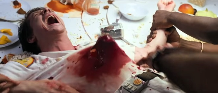 Alien movie chestburster scene