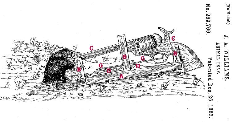 Mousetrap with a gun