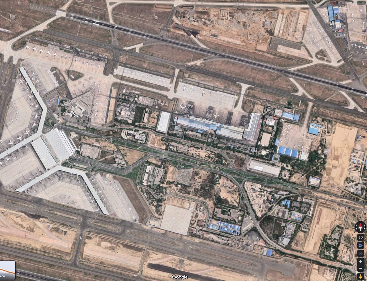 Delhi airport satellite view
