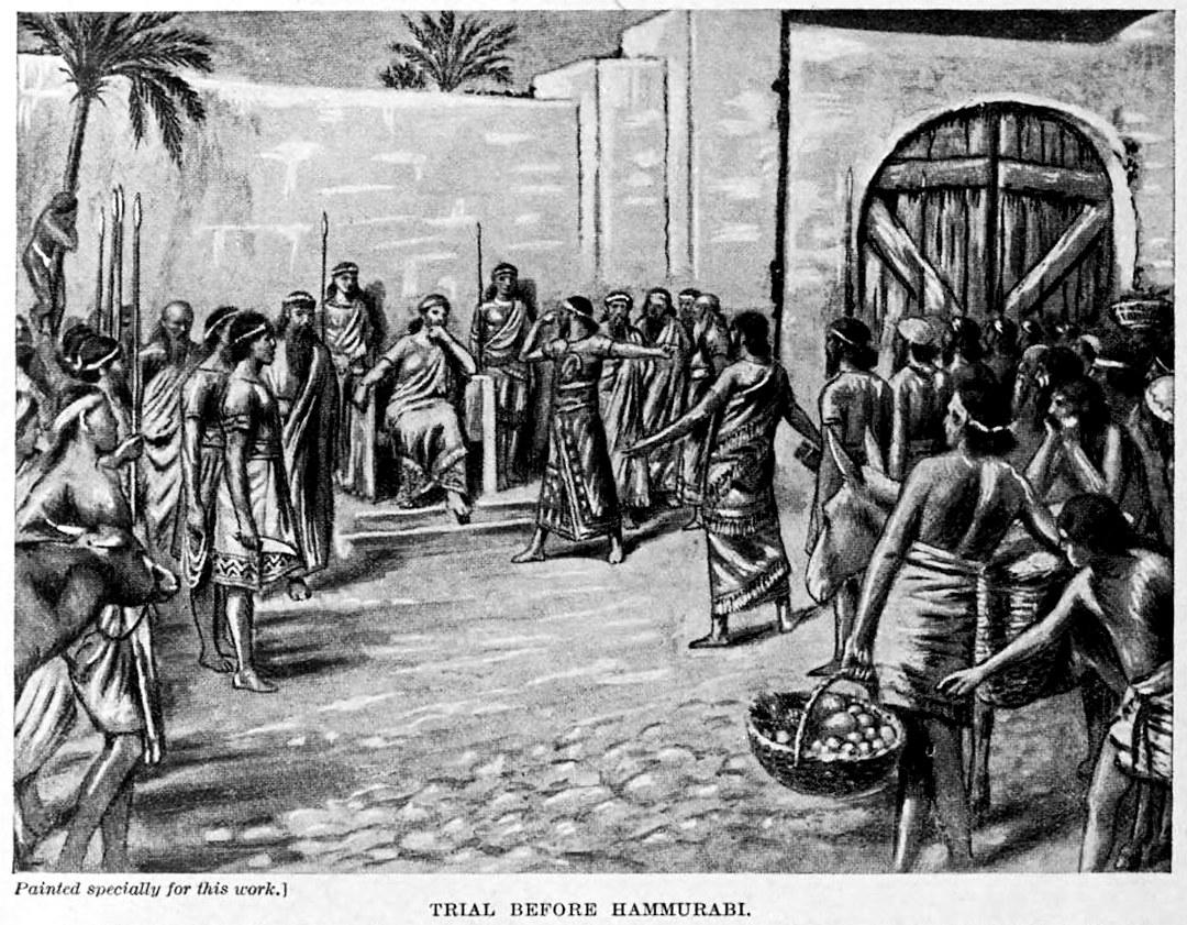 Trial before Hammurabi